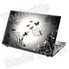"15,6 ""Laptop piel cubierta de adhesivo Mariposa Plata 277"