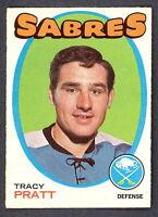 1971 72 OPC O PEE CHEE HOCKEY 107 TRACY PRATT EX-NM BUFFALO SABRES HOCKEY CARD