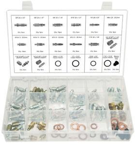 Swordfish 30290 - Brake Bleeder Screw Nipple Repair Insert Assortment, 105pieces