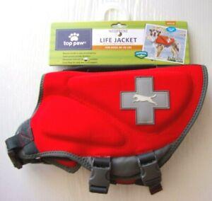 Neoprene Dog Life Jacket - TOP PAW - Sz Medium 30 - 50 lbs - Red