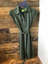 Industry Size small Green With Brown Polka Dot Dress - Retro Vibes, EUC