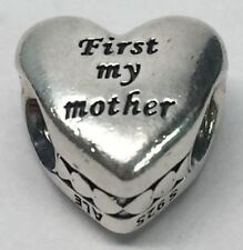 Authentic Pandora Sterling Silver Mother & Friend Engraved Heart Charm 791518
