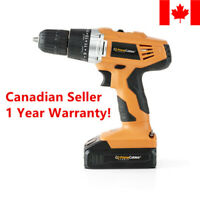 HOT 20V Cordless Power Drill w/ Soft Grip Handle For Home Tool Set PrimeCables®