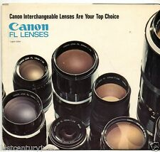 Photography Reference Guide For The Canon FL Lenses