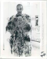 1989 Woman Models Patrick Kelly Cardigan Persian Lamb Fur Coat Press Photo