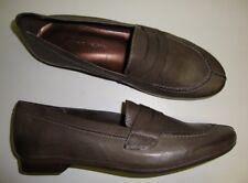 ANDREA TOKIO Chaussures basses pour femmes / slipper en cuir vintage gris