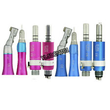 Nsk Style Dental Low Speed Contra Angle Straight Handpiece 4 Hole Motor Kit Set