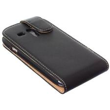 Samsung Galaxy S III S3 Mini Leather Executive Flip Cover Case Black