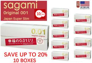 Sagami Original 001 5pcs Ultra Thin Condom 0.01 mm (10 BOXES) - US Seller