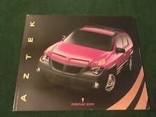 "NEW ORIGINAL 2001 PONTIAC AZTEK DEALER SALES BROCHURE 10-1/2"" X 11"" (BOX 808)"