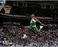 Shawn Kemp Seattle Supersonics NBA All-Star 1991 Slam Dunk Contest Photograph