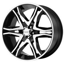 "4-AR893 Mainline 20x8.5 5x4.5"" +35mm Black/Machined Wheels Rims 20"" Inch"
