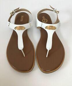 New MK Michael Kors Plate Thong Sandals Shoes