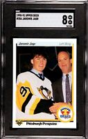 1990-91 UPPER DECK JAROMIR JAGR #356 - RC ROOKIE CARD - SGC 8 PSA?