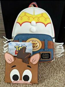 Loungefly TOY STORY JESSIE & BULLSEYE SET Disney Pixar Mini Backpack And Wallet