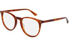 NEW Authentic GUCCI Womens Light Havana Round Eye Glasses Frame GG 0027O 003 27O