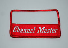 Vintage Red & White Channel Master TV Antenna Rotor Name Tag Patch New NOS 1970s