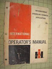 1975 International IHC Granular Chemical Applicators Operators Manual Planter