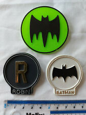 Original vintage Batman pin badges x 3 1966 National Periodical