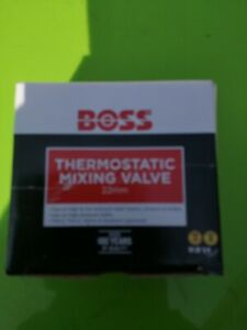 Boss 22mm Thermostatic Mixing Valve TMV2/3 with NRV & Strainers 690230