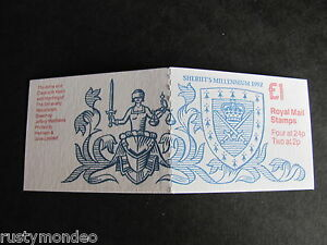 FH 27,£1.00, 1000th Anniv of Sheriffs folded Booklet, 1992, MNH