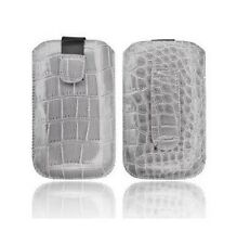 Housse Etui Pochette Croco Apple Iphone 4 4S Gris grise