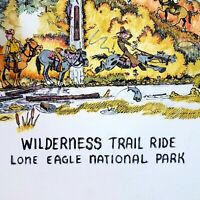 Leaning Tree Artist Signed STRICKLAND Wilderness Trail Ride Humor 306/500 1984