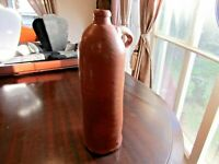 Estate Vintage Circa 1800s Stoneware Clay Bottle Jug Rare Salt Glaze NO Markings