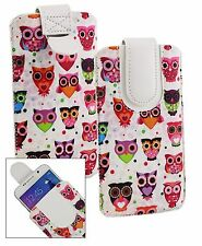Stylish PU Leather Pouch Case Sleeve has Pull Tab Fits Denver Phones