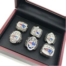New England Patriots Super Bowl Ring Set 6 PC Championship 2001 To 2018 With Box