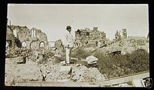 Glass Magic lantern slide ALBERT GENERAL VIEW NO2 CIRCA WW1 WORLD WAR 1