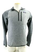 Patagonia NWT $99 Men's Pullover Half Zip Sweater Size Small Gray