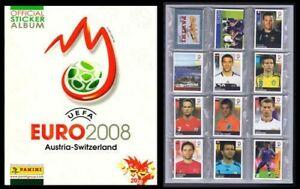 Panini 2008 UEFA EURO Austria Switzerland Complete Sticker set + Empty Album NEW