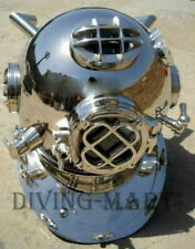 Silver Copper Diving Helmet Morse Scuba Navy Mark V Boston Divers Marine Helmet