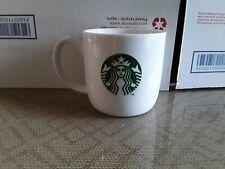 Starbucks White Mug Cup 11 oz Green Mermaid Logo Coffee Tea Latte Espresso NEW