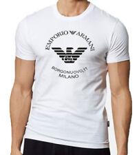 Camisetas de hombre de manga corta blancos ARMANI