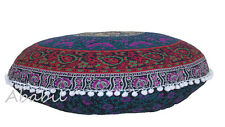 "28"" Indian Mandala Floor Pillow Cushion Ottoman Covers Round Pillow Covers Throw"