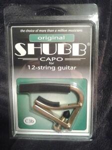 Shubb C3B Original Brass Capo for 12-String Guitars NEW NIB Free Shipping