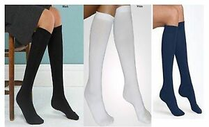6X PAIR KNEE HIGH SOCKS GIRLS LONG SOCKS-GIRLS SCHOOL KNEE LENGTH SOCKS