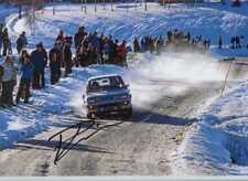 Pentti Airikkala Vauxhall Chevette 2300 Hs Suecia Rally 1980 Firmado fotografía 1