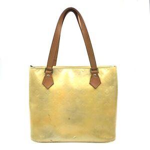 100% Authentic Louis Vuitton Vernis Houston Yellow M91004 [Used] {09-165B}