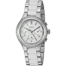 DKNY Womens NY2497 Chambers Multi-Function Crystal Stainless steel Ceramic Watch