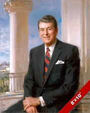 RONALD REAGAN US PRESIDENT PORTRAIT AMERICAN HISTORY PAINTING ART CANVAS PRINT