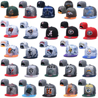 Embroidered Baseball Cap Flat Brim NFL Football Teams Logo Snapback Sports Hat