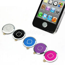 5 x Aluminium-Metal Home button Sticker For iPhone iPod Touch 4 4G 5 Nano 7