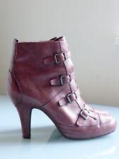 Ash-Stivaletti/TDU boots, fibbie, plateau, Mirtillo/Aubergine 41, quasi nuovo