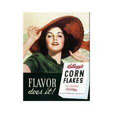 Kelloggs Corn Flakes Lady Kühlschrankmagnet Fridge Refrigerator Magnet 6 x 8 cm