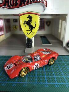 🔴Hotwheels 2021 Custom Ferrari 330 P4 Andretti Lemans Treasure Hunt Real Riders