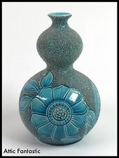 VERY RARE DOUBLE GORDE VASE in the BURMANTOFTS ART POTTERY STYLE. MINT
