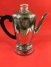 Mid Century Percolator Vulcan Electric Coffee Maker Vintage USA Deco Styling